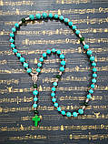 Розарий Бирюза Хризопраз, четки розарий из натурального камня, четки католические \ Ч - 114, фото 7
