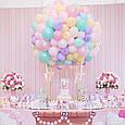 """Латексные воздушные шарики круглые макарун ассорти пастель 10"""" (26 см)  10 шт, фото 7"""