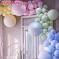 """Латексные воздушные шарики круглые макарун ассорти пастель 10"""" (26 см)  10 шт, фото 5"""
