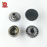 Кнопка кольцевая 12.5мм нержавеющая, Черный никель (1000шт) Китай