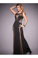 Женское стильное красивое приталенное платье в пол на выпускной