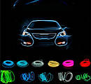 Гибкий светодиодный неон LTL Флуоресцентный Neon Glow Light Fluorescent - 3 метра ленты на батарейках 2 AA, фото 8