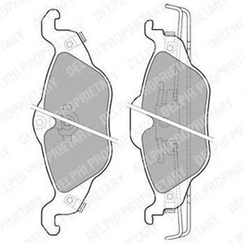 Тормозные колодки передние Опель Astra F/ Астра F/ Opel Astra G, опель астра g (пр-во Delphi LP1673)