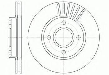 Тормозной диск передний  Форд COUGAR/ GRANADA I/ Мондео/ SCORPIO/ USA CONTOUR (пр-во ROADHOUSE 6211.10)