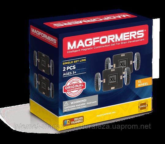 Магнітний конструктор Magformers Колеса XL 2 елементів, фото 2