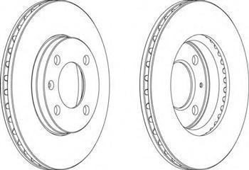 Тормозной диск передний  Ауди, ROVER, Сиат, Фольксваген (пр-во FERODO DDF175)