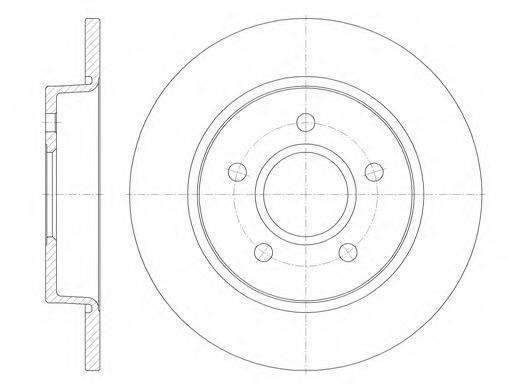 Тормозной диск задний Форд C-MAX/ C-MAX II/ Фокус C-MAX/ Фокус 2 (пр-во REMSA 6846.00)