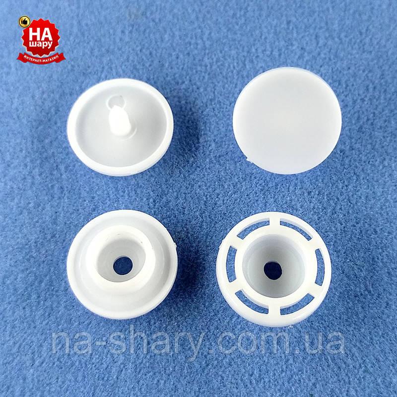 Кнопка пластиковая 12.5мм, Белая (1000шт) Турция