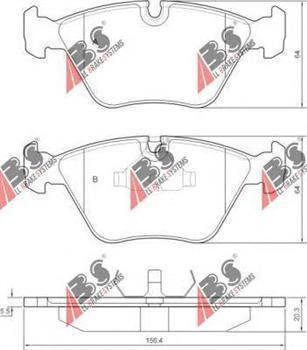 Гальмівні колодки передні БМВ 3/ 5/ 7/ Z3/ Z4 (пр-во A. B. S. 36650)