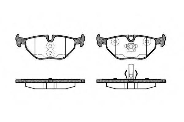 Гальмівні колодки задні БМВ, MG, ROVER (пр-во REMSA 0265.40)