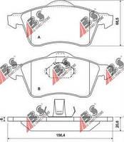 Тормозные колодки передние Фольксваген Транспортер / CARAVELLEV/ ТранспортерV (пр-во A.B.S. 36986)