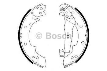 Тормозные колодки задние  БМВ, SUZUKI (пр-во BOSCH 0986487013)