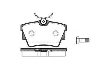 Гальмівні колодки задні Фольксваген Транспортер / CARAVELLEV/ ТранспортерV (пр-во ROADHOUSE 2591.10)