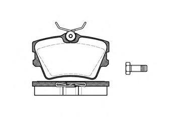 Тормозные колодки задние  Фольксваген Транспортер / CARAVELLEV/ ТранспортерV (пр-во ROADHOUSE 2591.00)