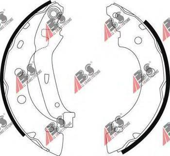 Тормозные колодки задние Renault Kangoo, Рено Кенго, Ниссан (пр-во A.B.S. 9031)