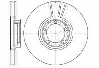 Тормозной диск передний Ford Transit, Форд Транзит/ Транзит TOURNEO (пр-во REMSA 6518.10)