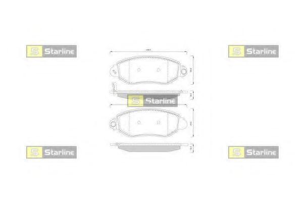 Тормозные колодки передние Ford Transit, Форд Транзит (пр-во STARLINE BDS244)