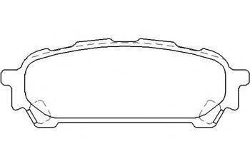 Тормозные колодки задние  Субару Импреза (пр-во BREMBO P78014)