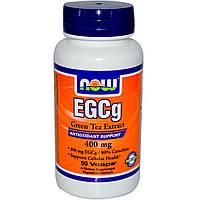 Эксракт зеленого чая (Green tea) EGCg, Now Foods, 400 мг, 90 капсул