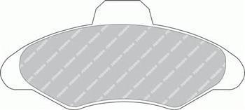 Тормозные колодки передние Форд Эскорт, Ford Escort 91/ Эскорт/ Орион (пр-во FERODO FDB617)