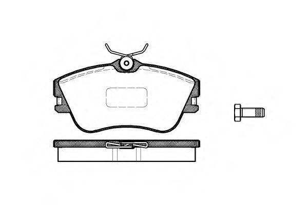 Тормозные колодки передние  Фольксваген Транспортер / CARAVELLEV/ ТранспортерV (пр-во REMSA 0480.00)