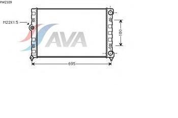 Радіатор охолодження Фольксваген Гольф/ Гольф Estate/ Джета III (пр-во AVA QUALITY COOLING VW2109)