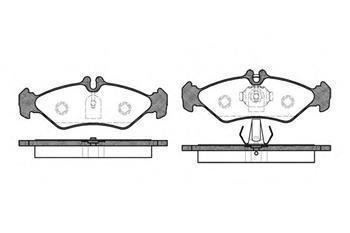 Гальмівні колодки задні Мерседес Спринтер, Mercedes Sprinter, Фольксваген (пр-во ROADHOUSE 2579.00)