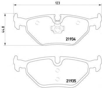 Тормозные колодки задние  БМВ, MG, ROVER (пр-во TEXTAR 2193402)