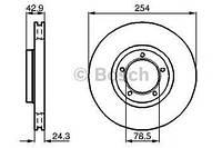 Тормозной диск передний Ford Transit, Форд Транзит/ Транзит TOURNEO (пр-во BOSCH 0986478160)