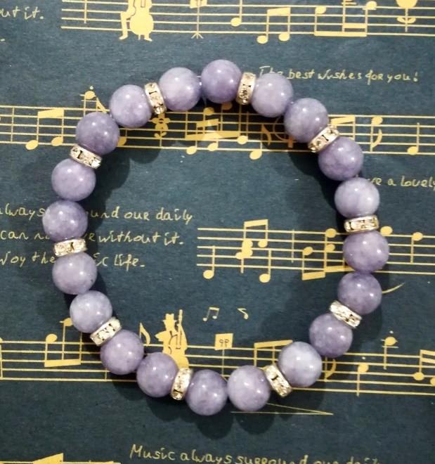 Браслет из Ангелита натуральный камень, цвет серо-голубой, тм Satori \ Sb - 0255