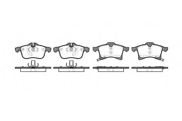 Тормозные колодки передние Opel Astra G, опель астра g/ Астра H/ Astra H/ (пр-во REMSA 1036.02)