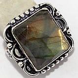 Кольцо лабрадорит спектролит в серебре. Кольцо с лабрадором размер 18,5 Индия!, фото 2