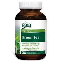 Зеленый чай (Green tea), Gaia Herbs, 300 мг, 60 капсул