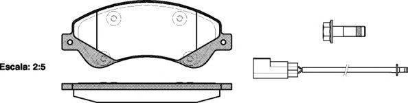 Тормозные колодки передние  Ауди, Форд (пр-во REMSA 1251.02)