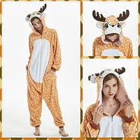 Бэмби пижама Кигуруми — костюм-комбинезон Олененок Бэмби e63061356e35e