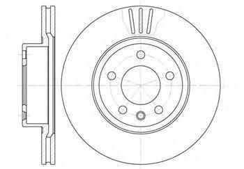 Гальмівний диск передній Опель Омега, Opel Omega B (пр-во ROADHOUSE 6490.10)