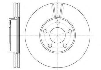 Тормозной диск передний  Фольксваген Пассат (пр-во ROADHOUSE 6549.10)