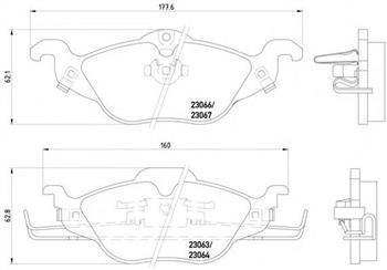 Гальмівні колодки передні CHEVROLET, Opel Astra G, Опель Астра G (пр-во TEXTAR 2306302)