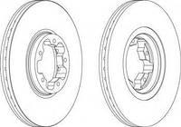 Тормозной диск передний Ford Transit, Форд Транзит (пр-во FERODO DDF1113)