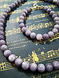 Комплект из Ангелита - колье + браслет, натуральный камень, цвет серо-голубой, тм Satori \  \ Sn - 0017, фото 2