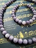 Комплект из Ангелита - колье + браслет, натуральный камень, цвет серо-голубой, тм Satori \  \ Sn - 0017, фото 3