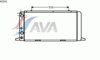 Радиатор охлаждения Audi, Ауди 80/ 90/ COUPE (пр-во AVA QUALITY COOLING AI2026)