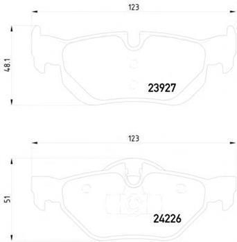 Гальмівні колодки задні БМВ 1/ 1 [USA]/ 3/ 3 [USA]/ X1 (пр-во TEXTAR 2392701)