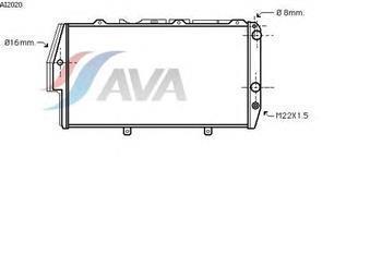 Радіатор охолодження Ауді 500/ 100/ 200 (пр-во AVA QUALITY COOLING AI2020)