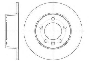 Тормозной диск задний  Ниссан, Опель, Рено (пр-во ROADHOUSE 6735.00)