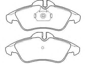 Гальмівні колодки передні Мерседес Спринтер, Mercedes Sprinter, Фольксваген (пр-во BREMBO P50080)