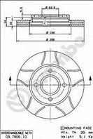 Тормозной диск передний Ford Focus, Форд Фокус, Мазда (пр-во BREMBO 09.7806.75)