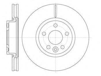 Тормозной диск передний  Форд, LANDROVER, Вольво (пр-во ROADHOUSE 61019.10)