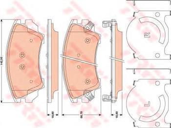 Гальмівні колодки передні CHEVROLET, Opel Astra G, Опель Астра G, (пр-во TRW GDB1783)