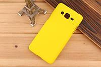 Чехол накладка бампер для Samsung Galaxy Grand Prime G530 желтый